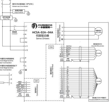hcsa/e/d伺服标准接线图
